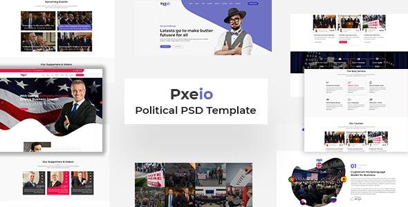Pxieo - Political PSD Template