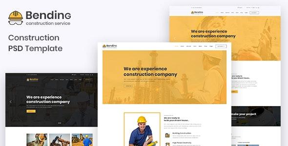 BendinG - Construction PSD Template - Business Corporate