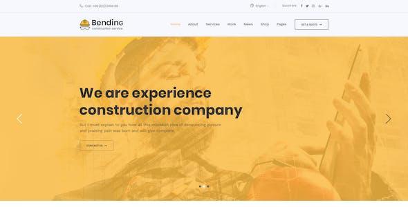 BendinG - Construction PSD Template