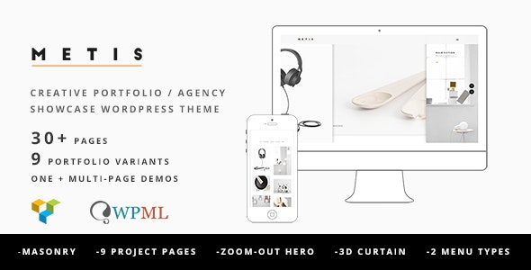 Metis - Portfolio / Agency WordPress Theme - Creative WordPress