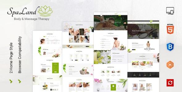 Spaland - Spa HTML Template - Health & Beauty Retail