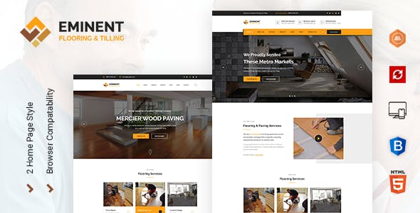 Eminent - Flooring Services HTML Template