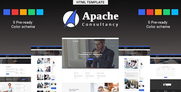 Apache-Business-Consulting HTML Template - Corporate Site Templates