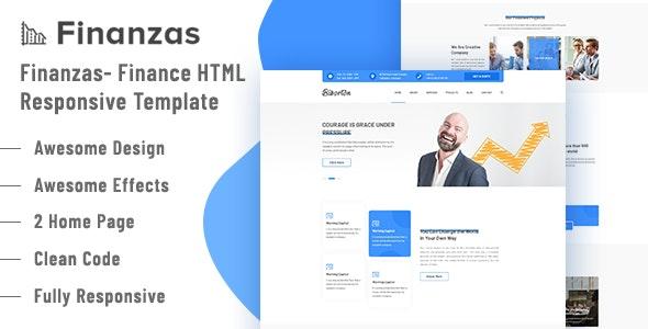 Finanzas - Finance Responsive HTML5 Template - Business Corporate