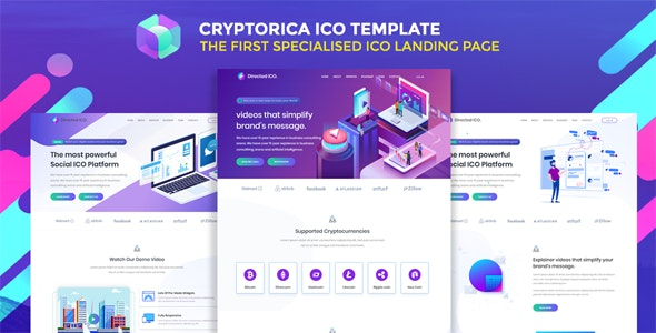 Cryptorica - ICO and Cryptocurrency Template - Technology Site Templates