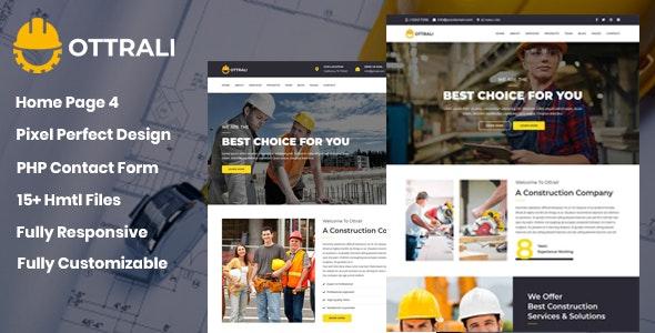 Ottrali - Construction Business Template - Site Templates