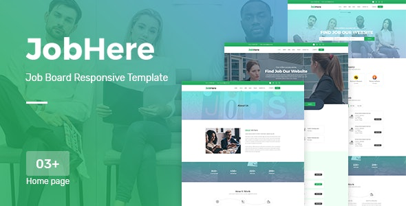 JobHere Job Board Responsive Bootstrap 4 Template