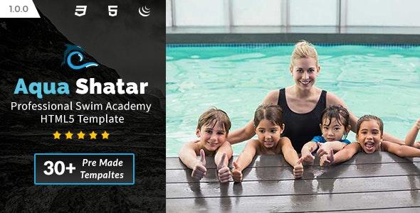 Aqua Shatar - Professional Swim Academy HTML5 Template - Health & Beauty Retail