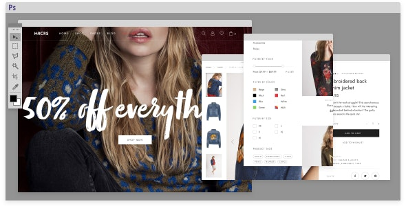 Mercurius eCommerce PSD Template - Fashion Retail