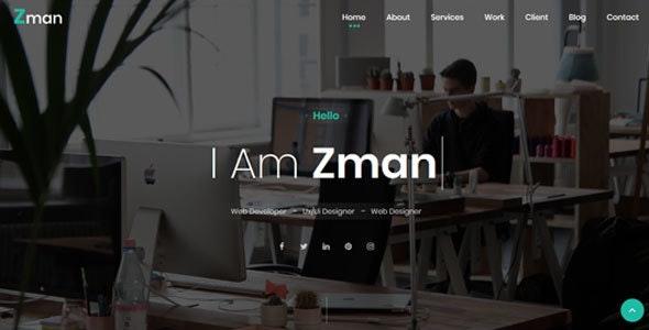 Zman - Personal PortfolioTemplate - Personal Site Templates