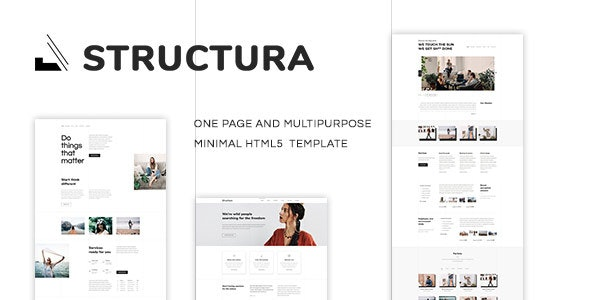 Structura - Minimal One Page Template - Business Corporate