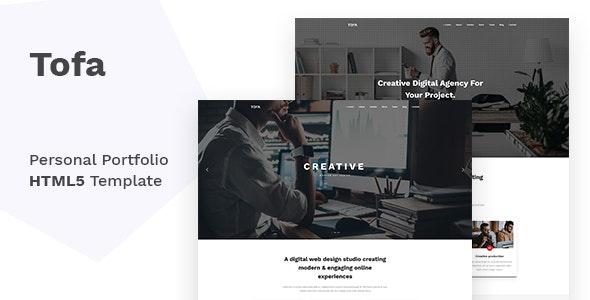 Tofa - Personal Portfolio Template - Portfolio Creative