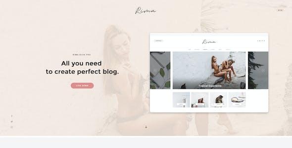 Rima - Personal Blog PSD Template