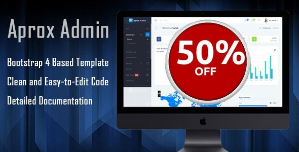 APROX - Responsive Bootstrap 4 Admin Template - Admin Templates Site Templates