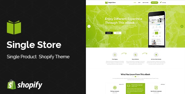 Single Store | A modular layout for perfect one-page stores - Shopping Shopify