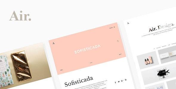 Air. Lightweight Portfolio WordPress Theme - Portfolio Creative