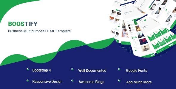 Boostify - Business Multipurpose HTML Template - Business Corporate