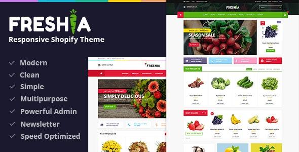 Freshia - Drag & Drop Sectioned Ecommerce Shopify Theme - Shopping Shopify