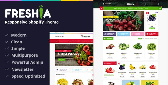 Freshia - Drag & Drop Sectioned Ecommerce Shopify Theme