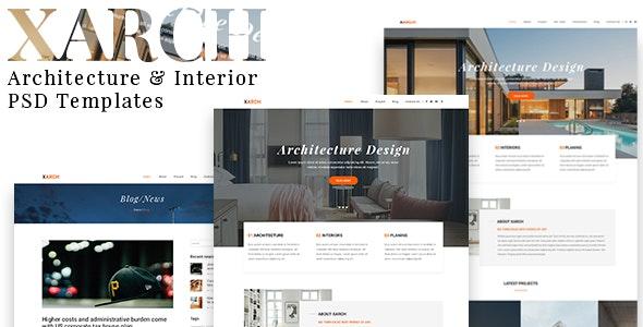 Xarch - Architecture & Interior PSD Templates - Business Corporate