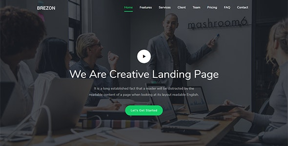 Brezon - Responsive Bootstrap 4 Landing Template - Landing Pages Marketing