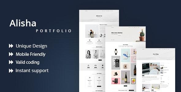 Alisha | Creative Personal Portfolio Template - Portfolio Creative