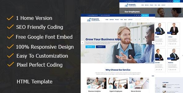 Corponix - Corporate & Business Responsive Template - Corporate Site Templates
