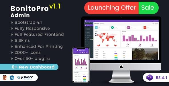Bonito Pro - Bootstrap 4 Admin Templates & Web Apps Dashboards - Admin Templates Site Templates