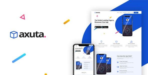 Axuta   App Landing Page Template