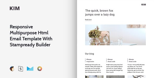 Kim - Responsive Email + StampReady, MailChimp & CampaignMonitor compatible files
