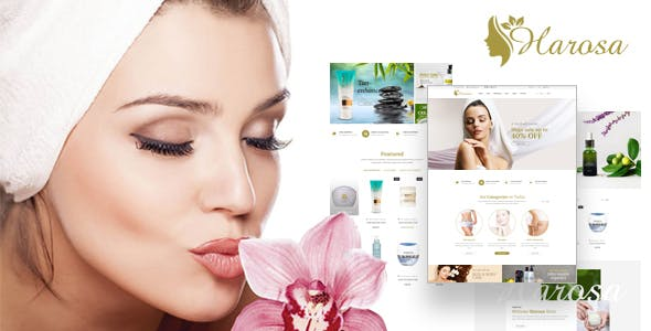 Harosa - Cosmetics and Beauty eCommerce Bootstrap4 Template