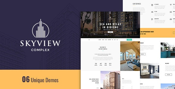 Skyview Complex - One Page Single Property WordPress Theme - Real Estate WordPress