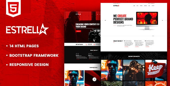 Estrella HTML Template For Creative Agencies by EXCLthemes | ThemeForest