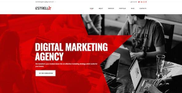 Estrella HTML Template For Creative Agencies