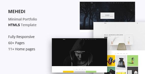 Mehedi - Minimal Portfolio Template - Portfolio Creative