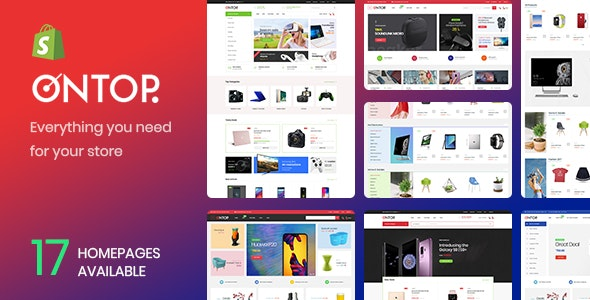 Ap Ontop - Customizer Sections Minimalist Retina Large Inventory Best Premium Shopify Theme 2018 - Miscellaneous Shopify