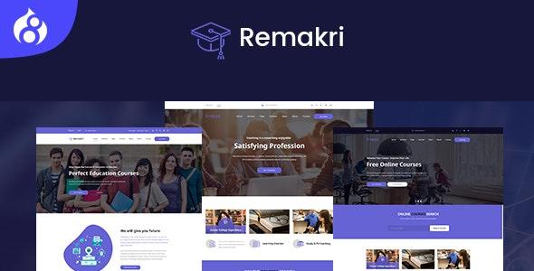 Remakri - Education Course Drupal 8.8 Theme - Nonprofit Drupal