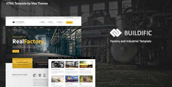 Buildific - Factory and Industrial HTML Template - Corporate Site Templates