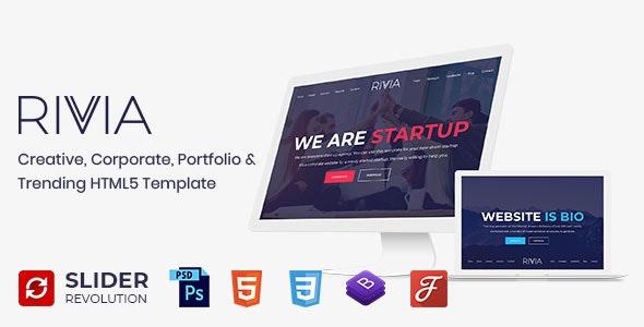 Rivvia - One Page Parallax - Portfolio Creative