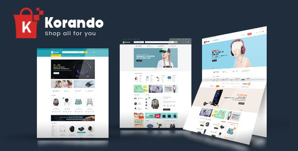 Korando - Electronics Fashion Store HTML Template - Shopping Retail