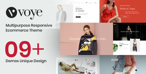 Voye - Multi Purpose Fashion Ecommerce PSD Template - Fashion Retail