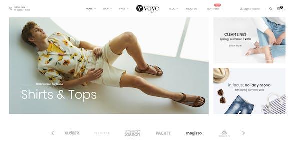 Voye - Multi Purpose Fashion Ecommerce PSD Template