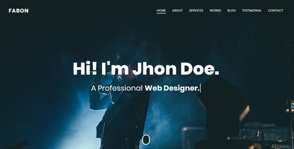 Fabon - Personal Portfolio Template - Personal Site Templates