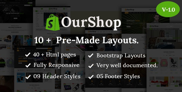 Ourshop - Multipurpose eCommerce Bootstrap Template. - Retail Site Templates