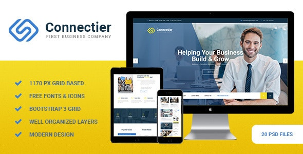 Connectier - Business PSD Template - Corporate Photoshop