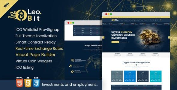 Leobit - Crypto Currency WordPress Theme