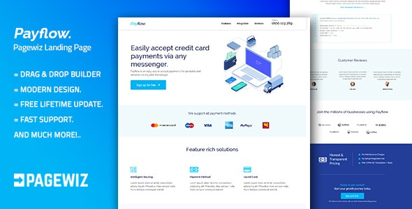 Payflow - Pagewiz Responsive Landing Page Template - Pagewiz Marketing
