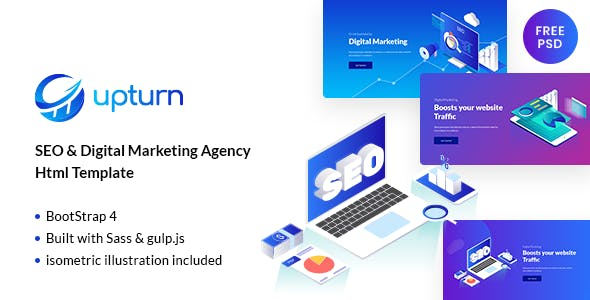 Upturn Seo And Digital Marketing Agency Html Template