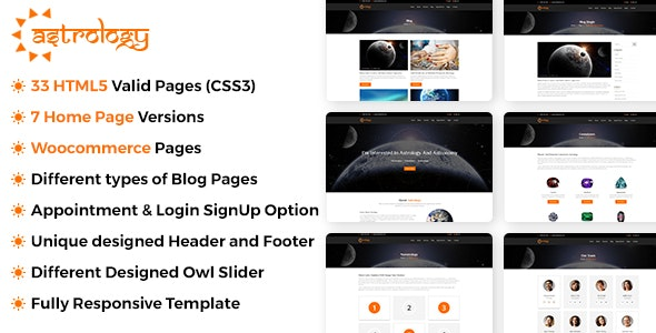 Astrology Site Template - Business Corporate