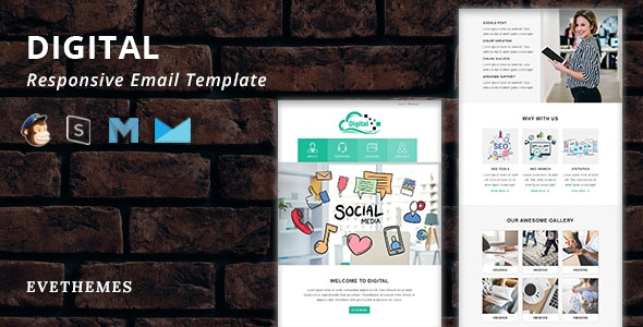 Digital - Responsive Email Template - Newsletters Email Templates